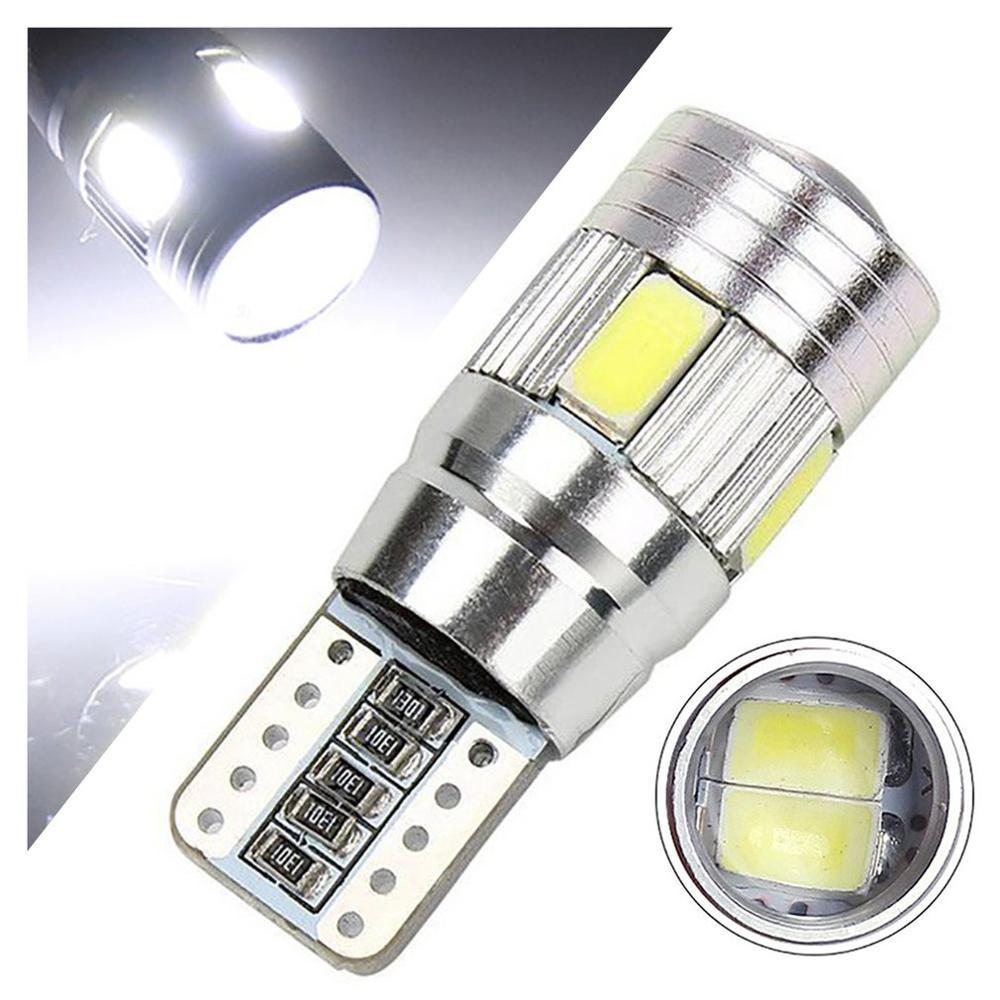 1 Pcs  Car Light Bulb 5630 6smd W5w Car 12v Led Tail Brake Rear Light Lamp Car Led Light Canbus Wedge Bulb Lamp Hot Hot