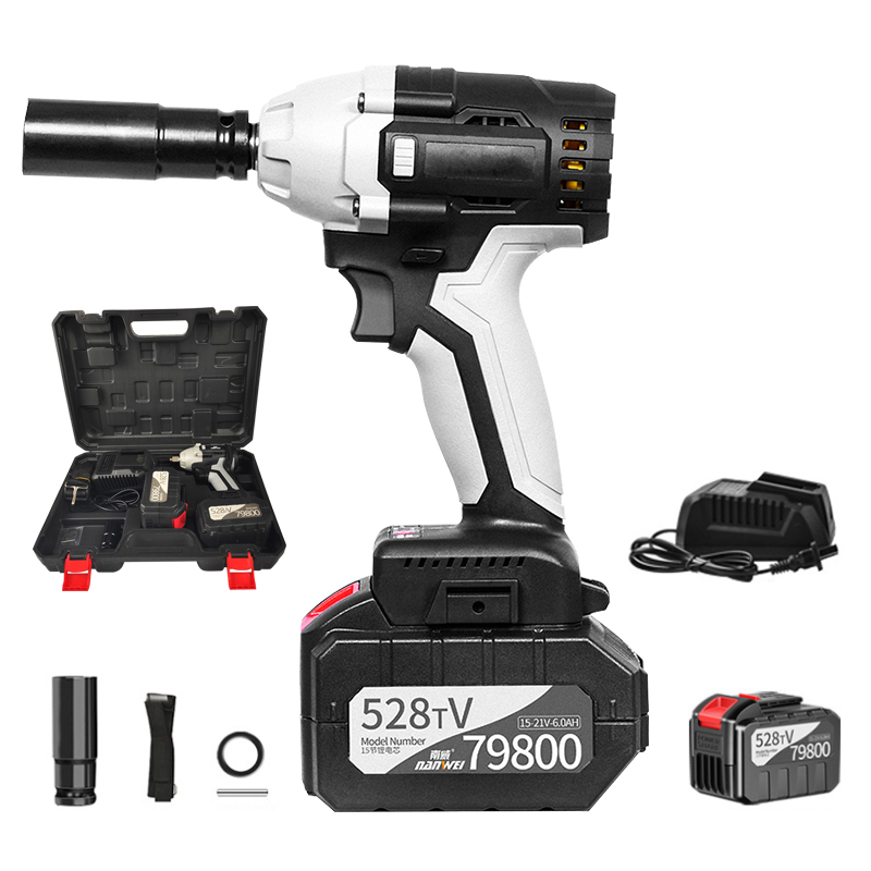 Electric Impact Wrench 30000mAh Lithium Battery Cordless Speed Brushless 980N.M Max Torque 3800 Rpm Speed Electric Wrench