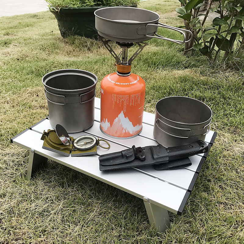 Picnic Folding Aluminium Alloy Table BBQ Hiking Outdoor Table Adjustable Table Park Camping Portable Ultra-light Desk