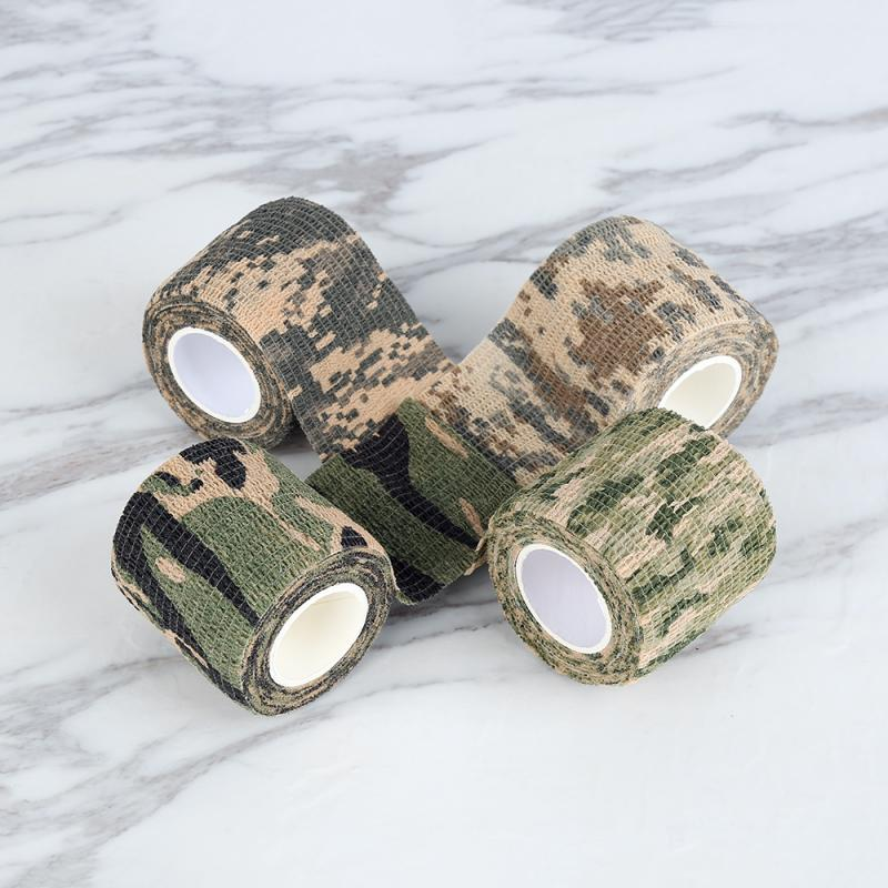 4.5m Camouflage Outdoor Hunting Shooting Camo Stealth Duct Tape Waterproof Camping Stickers Outdoor Gadgets Home Improvement 3
