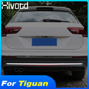 Hivotd For Volkswagen Tiguan MK2 2019 2018 Stainless Rear Tail Trunk Lid Molding Trims Strip Cover Trim accessories car styling
