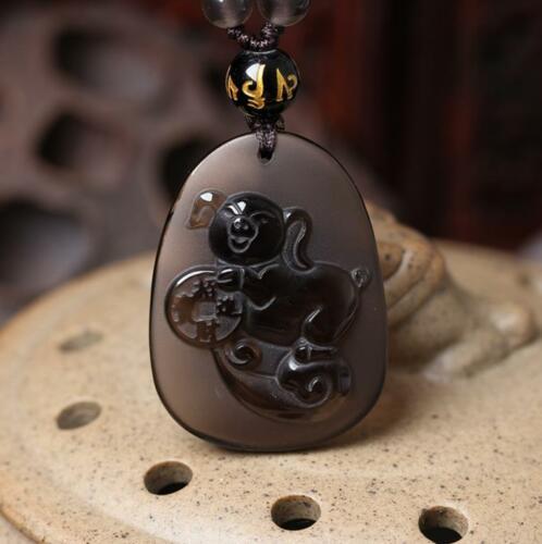 Sortes de glace naturelle obsidienne pendentif cochon chanceux mascotte chanceux amulette Animal Statue sûre et bonne chance cadeau de bijoux exquis