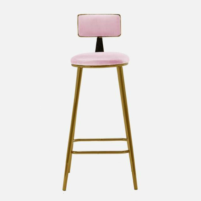 North Europe Ins Bar Chair Net Red Light Luxury Home Back  Modern Simple Fashion  Front Desk Stool