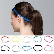 1 шт. женские повязки на голову для футбола йоги чистые резинки для волос противоскользящая эластичная резинка тонкая спортивная повязка на...