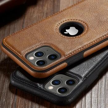 Dla iPhone 11 11 Pro 11 Pro Max etui luksusowe biznes skórzane szwy skrzynki pokrywa dla iphone 12 Pro Max XR X 8 7 6 6S Plus etui tanie i dobre opinie E CASUS CN (pochodzenie) PU Leather Wallet Back Magnetic Flip Cover Apple iphone ów Iphone 6 Iphone 6 plus IPHONE 6S Iphone 6 s plus