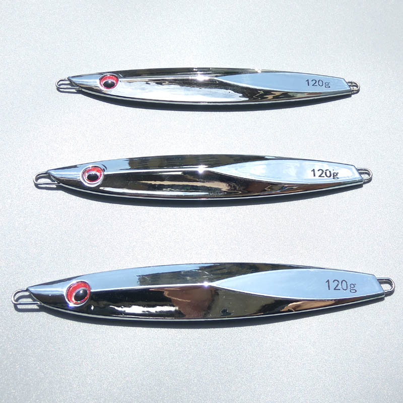 1pc/lot 80g 100g 120g Plating Process Knife Jigging Metal Spoon High Quality  Artificial Bait Boat Fishing Lures Lead Fish