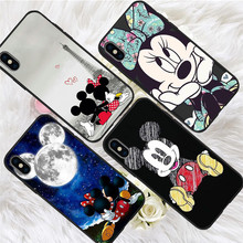Mickey cartoon For iPhone X XR XS Max 5 5S SE 6 6S 7 8 Plus Oneplus 5T Pro 6T phone Case Cover Coque Etui funda capinha capa karl lagerfeld for iphone x xr xs max 5 5s se 6 6s 7 8 plus oneplus 5t pro 6t phone case cover funda coque etui funda capa cute