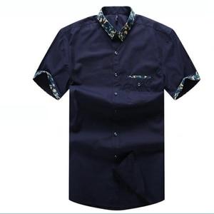 Image 4 - Mens Plus size clothing short sleeve shirt male Big size casual shirt fat summer short sleeve basic 8XL 7XL 6XL