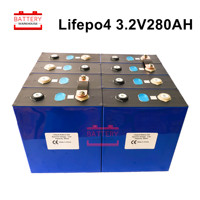 8PCS 3.2V280AH LIFEPO4 battery NEW cell Rechargeable Batteries Lithium iron for 24V300AH for RV SOLAR EV Marine EU US TAX FREE