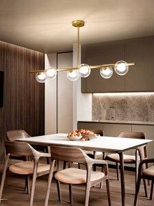 Image 2 - Moderne LED Kronleuchter Glas ball Lampen Restaurant bar Hängen lichter Nordic esszimmer dekoration suspension leuchten