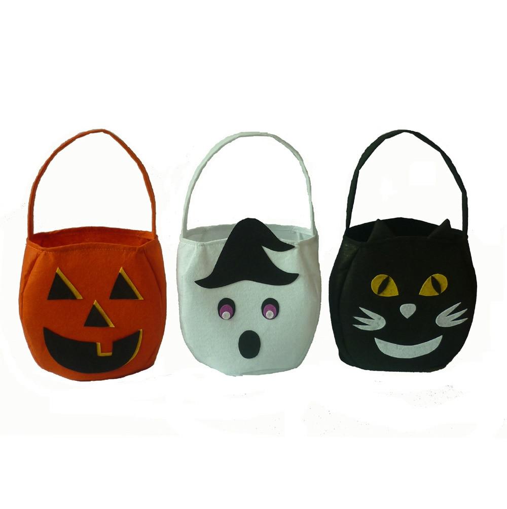 1 Piece Halloween Foldable Candy Smile Pumpkin Bag Chrismas Folding Personality Gift Basket