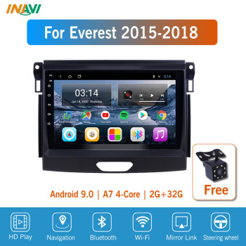 9'' IPS Android 9.0 Car Radio Multimedia For Ford Everest Ranger 2015-2018 GPS Navigation Navi Player Auto Stereo image