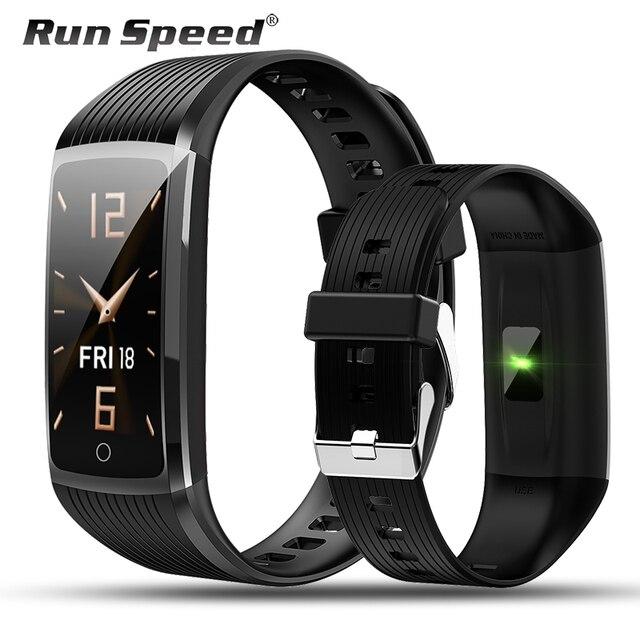 Run Speed R12 สมาร์ท Tracker กิจกรรมฟิตเนสสร้อยข้อมือวัดความดันโลหิต Heart Rate Monitor สำหรับ Honor band 5 miband