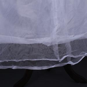 Image 5 - 2020 Braut Zubehör Hochzeit Petticoat Unterrock 4 Hoops Krinoline Petticoats für Ballkleid Hochzeit Kleider Jupon Günstige