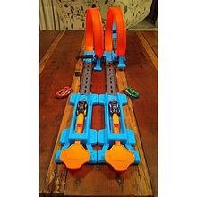 Trem ferroviário pista de corrida circuito elétrico carro musical tráfego brinquedo interativo crianças blocos de construção jogo diy brinquedo crianças