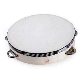6'' Hand Held Tambourine Drum Bell Birch Metal Percussion Musical Educational Toy Instrument For Musical Party Kids Games LAT