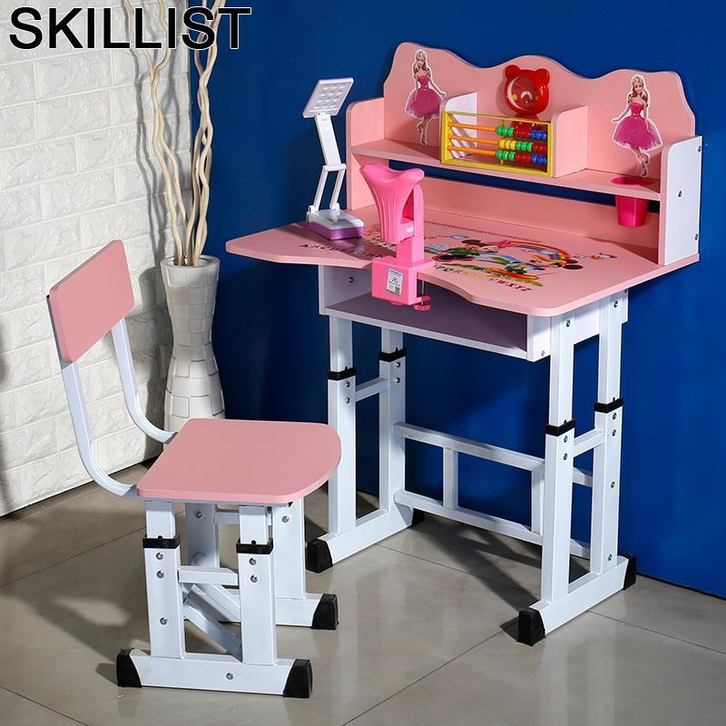 Dzieci Baby Avec Chaise And Chair Mesa Y Silla Pupitre Infantil Scrivania Bambini Adjustable For Bureau Enfant Study Kids Table