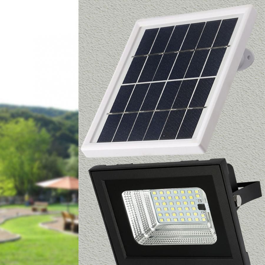 40W LED Solar Powered Wall Light Waterproof Floodlight With Remote Control For Garden Lighting Energy Saving