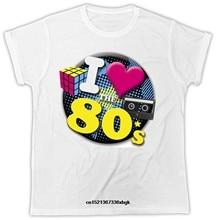 Eu amo 80 camiseta rubikonnovelty hipster retro 60 70 90 unissex t camisa de manga curta algodão frete grátis camiseta superior