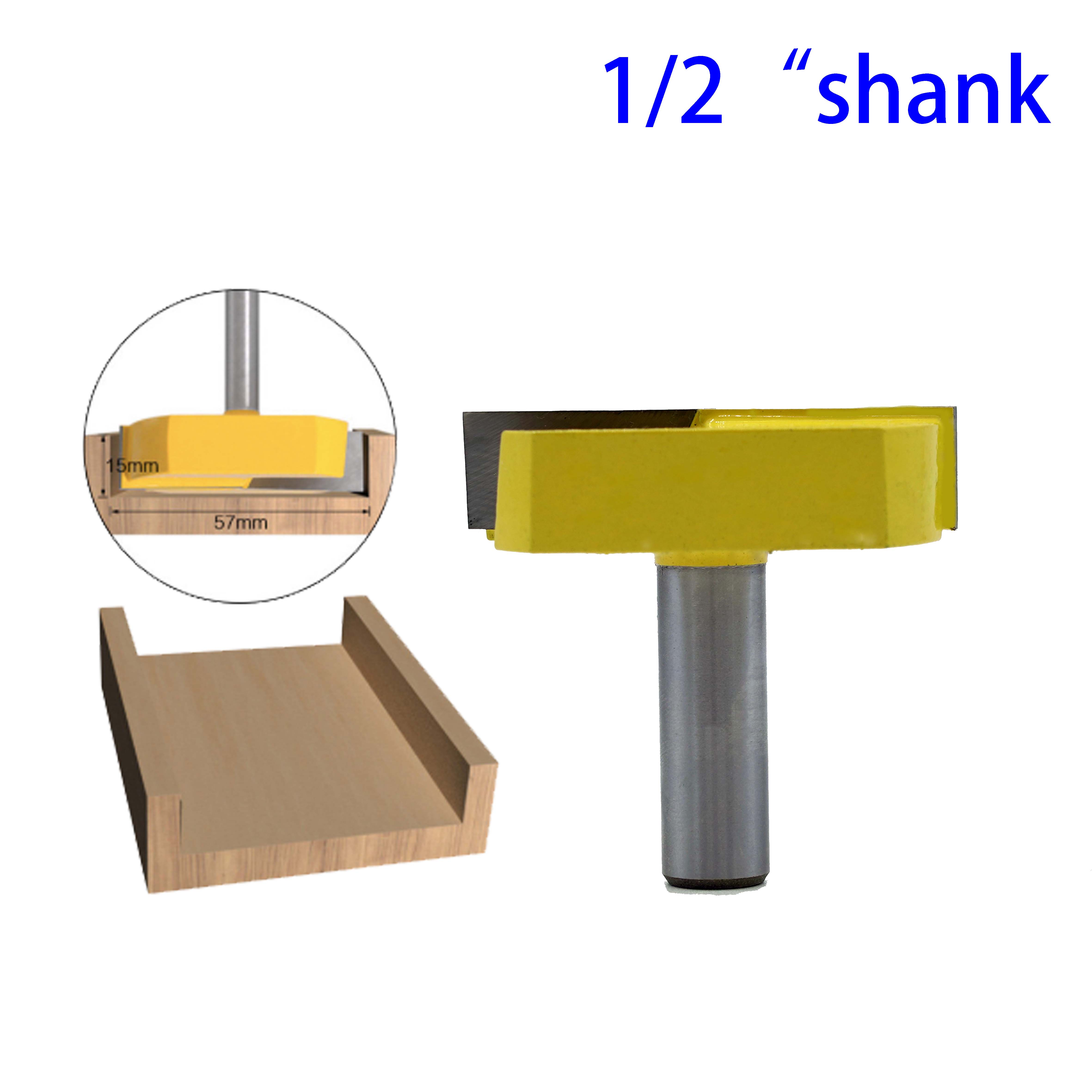 1pc 1/2 Shank Cleaning Bottom Router Bits Milling Cutter Wood Cutters 2-3/16 Cutting Diameter For Surface Planing Router Bit