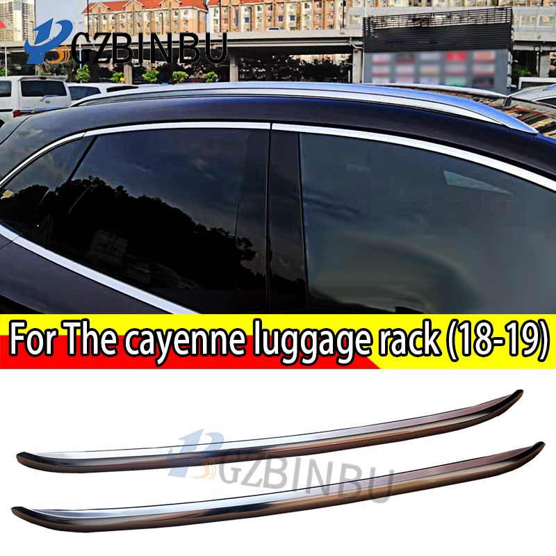 For The cayenne luggage rack Aluminum alloy The roof rack 2018+ Car luggage rack Roof Racks & Boxes     - title=