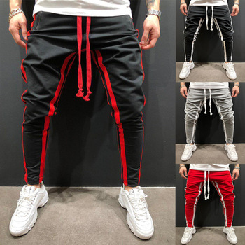 ZOGAA Striped Running Pants Men Joggers Sport Pencil Pants Hiking Sweatpants Gym Fitness Training Jogging Pants Men Workout цена 2017