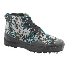 Hight-top Woodland Camouflage Army Rubber Shoes Outdoor Trai