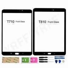 لوحة زجاجية لجهاز Samsung Galaxy Tab S2 8.0 T710 / S2 9.7 T810 (بدون شاشة LCD تعمل باللمس) ، أجزاء التجميع
