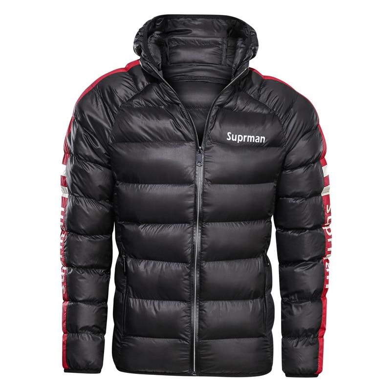 Image 3 - 2019 New Mens Winter Jacket Coat Hooded Fashion Parka Men  Thicken High Quality Coat Male Top Slim Fit Brand Man Warm  OvercoatsJackets