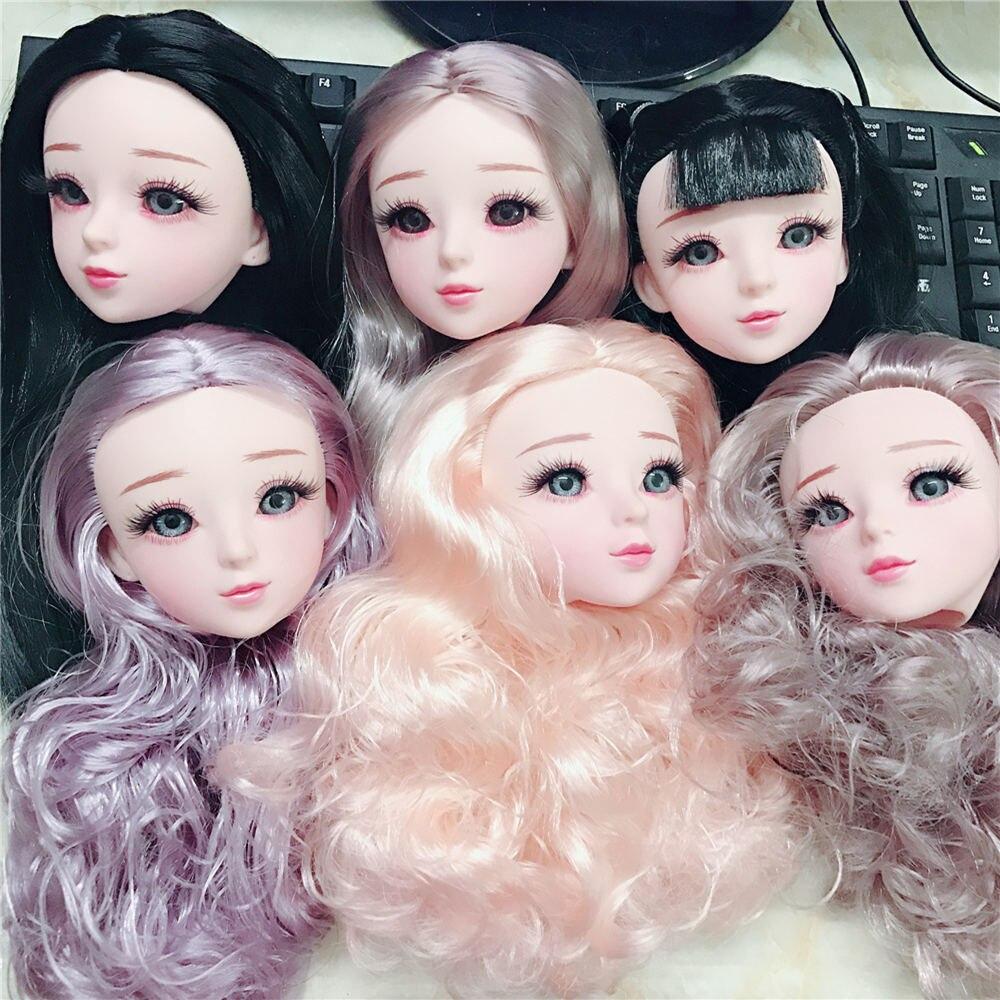 22 articulações olhos azuis 60cm bjd boneca corpo nu com bonecas de maquiagem para meninas sapatos de presente 22 polegada boneca do bebê brinquedo