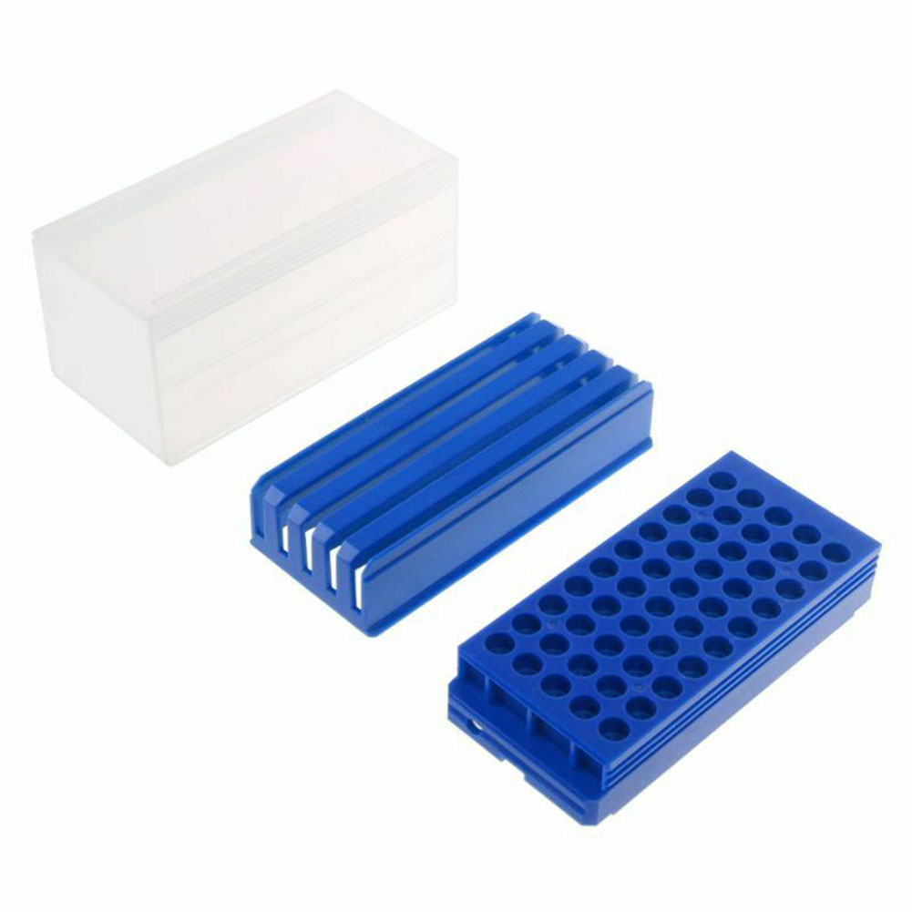 50 Holes Practical Durable Tool Drill Bit Organizer Storage Box Holder Accessories Milling Cutters Drawer Type Portable PP