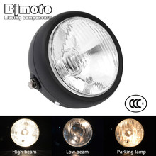 BJMOTO Motorcycle Custom bikes Projector Light Bulb Headlight Stop light For Cafe Racer Chopper Bobber Touring universal led angel eye projector daymaker high low beam headlight cruiser chopper cafe racer old school bobber touring