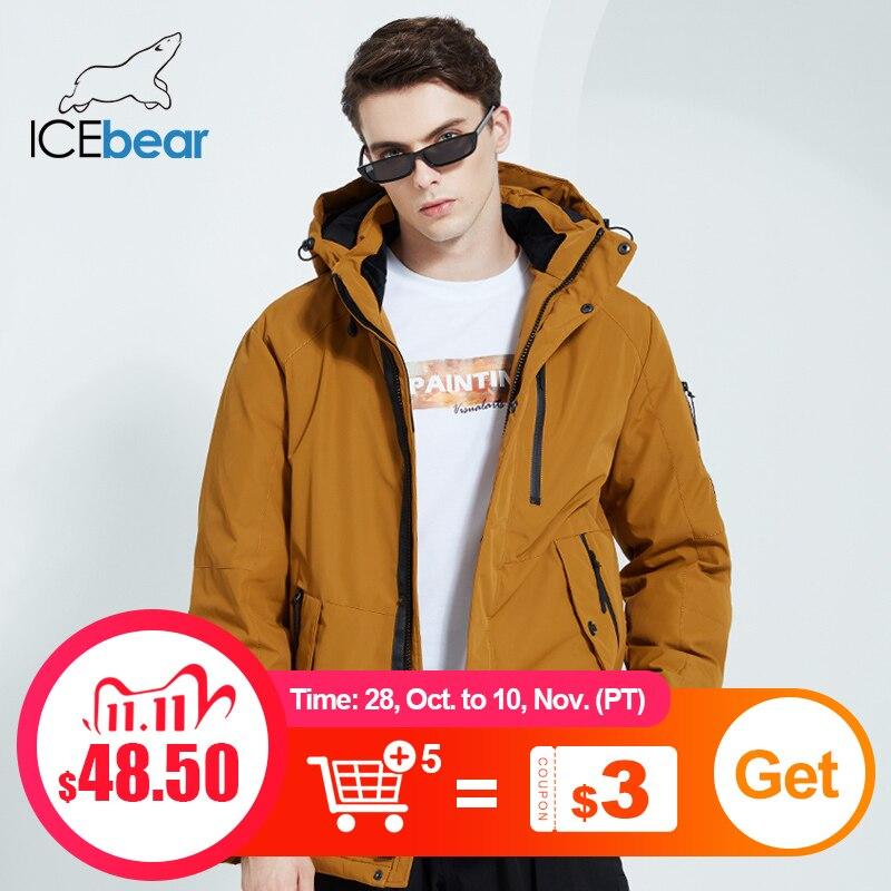 ICEbear 2020 осенью и зимой новый мужской пальто с капюшоном теплая мужская хлопковая куртка мода мужская одежда MWD20853D|Парки| | АлиЭкспресс