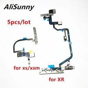Image 1 - AliSunny 5 قطعة كابل مرن لزر الطاقة ل XR XS ماكس على قبالة حجم ميكروفون ضوء فلاش الشريط مع حامل معدني