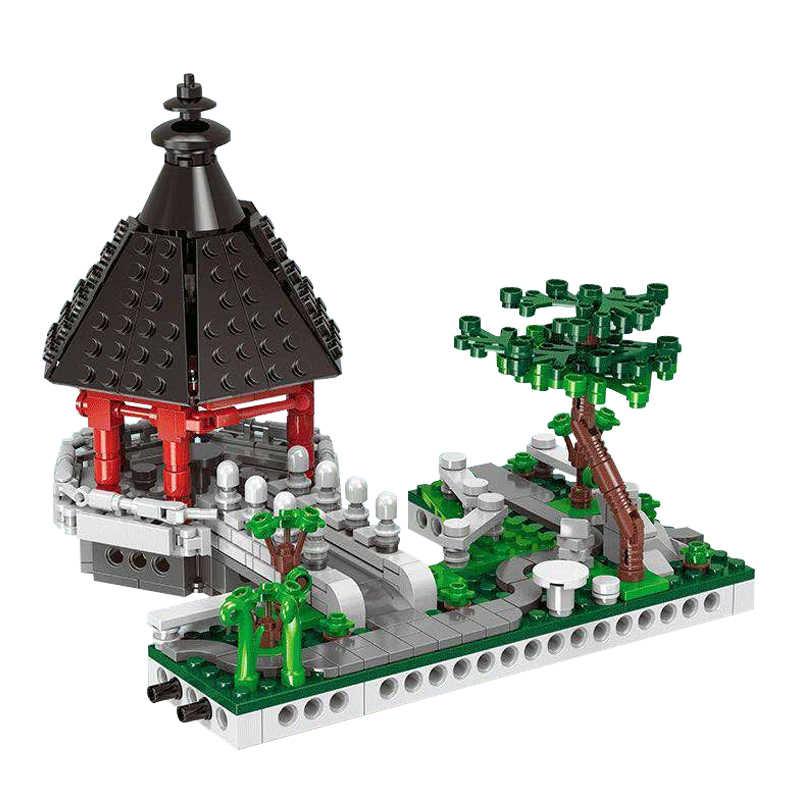 Baru 6In1 Kompatibel DIY Arsitektur Kota Xingbao 01110 Cina Suzhou Garden Set Blok Bangunan Batu Bata Mainan untuk Anak