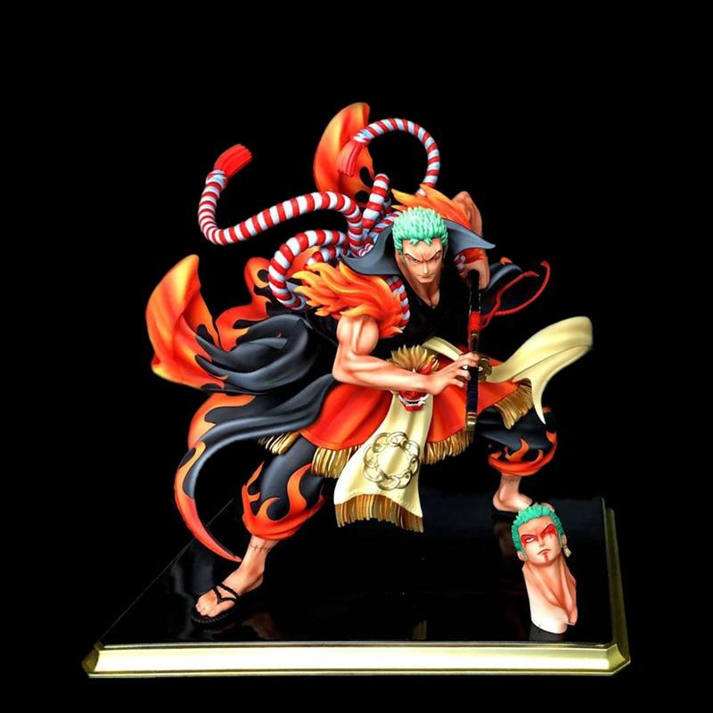 Anime One Piece Zoro Kimono Kabuki Edition PVC Action Figures Collection Model Toys