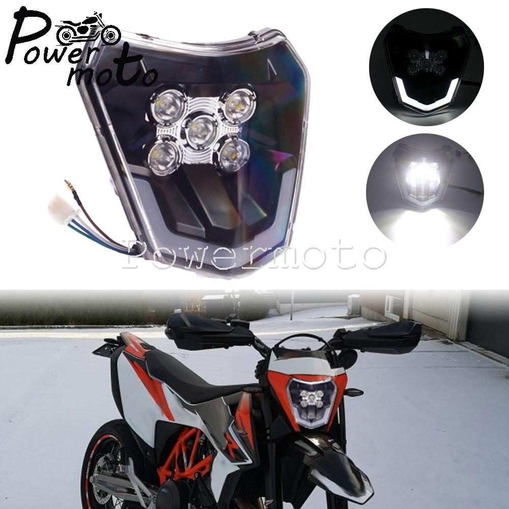 Enduro esporte duplo led farol para exc xcf xcw 250 300 350 450 500 690 smc XC-W EXC-F seis dias freeride 250 bicicleta da sujeira handlamp