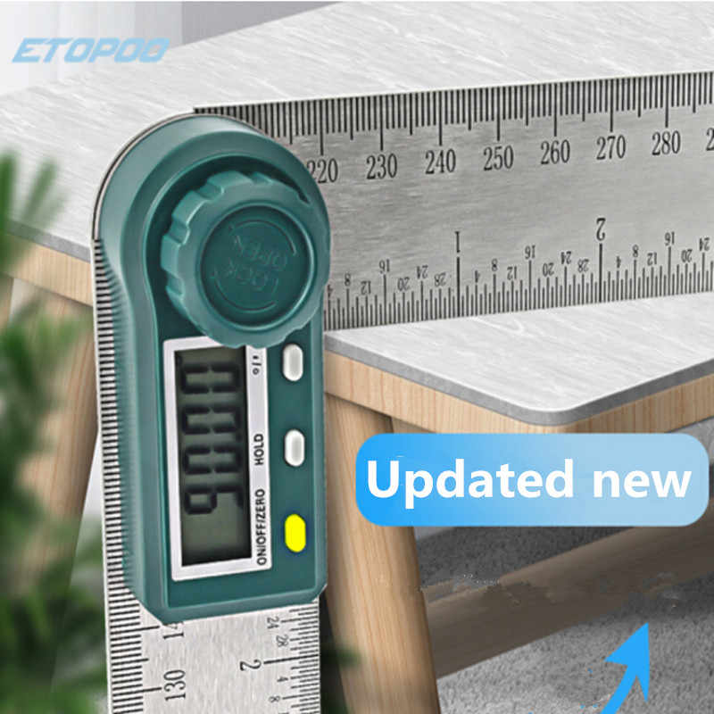 Update rvs Digitale Meter Hoek Inclinometer Digitale Heerser Elektron Goniometer Gradenboog Hoekzoeker Meetinstrument