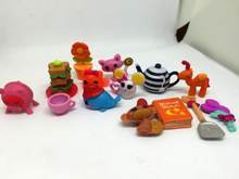 50pcs/lot cartoon figure Lalaloopsy Accessories, Lovely cartoon animals for girls, Mini girls' toys birthday gift capsule toy(China)