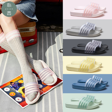 POSEE Summer Women Slippers fashion Shoes Striped Platform Ladies Casual Beach Flat outside 2907