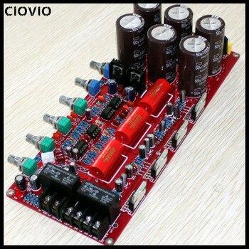 CIOVIO 1PCS Dual 20V-28V Channel Amplifier Board / Preamplifier Board (80w * 2 + 160w)