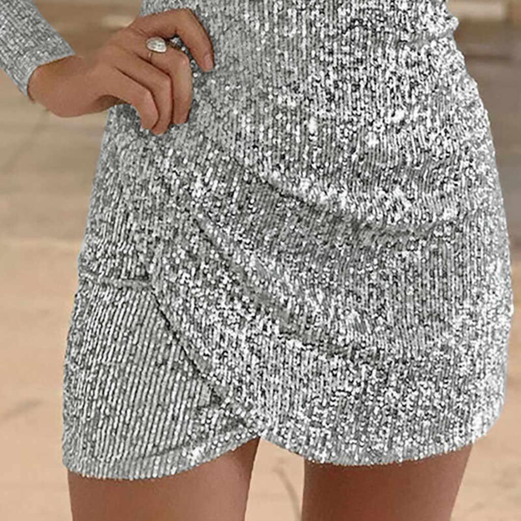 40 @ ผู้หญิงเงามินิเซ็กซี่ Deep V-Neck Bodycon ชุดเดรสแขนยาว Vestidos платье женско