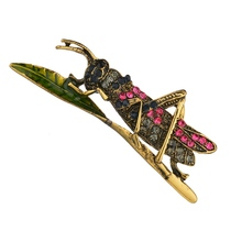 Gariton Vintage locust Insect Brooches Enamel Big Mantis Brooch Pin Fashion Dress Coat Accessories Cute Jewelry