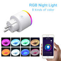 RGB luce UE wifi Smart plug Presa Intelligente Vita Intelligente App wireless wifi presa di corrente con Google Casa amazon Alexa controllo vocale