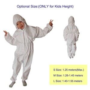 Image 2 - Overall Antibacteriële Herbruikbare Kinderen Kids Beschermende Isolatie Pak Geïntegreerde Kap Flexibele Elastische Mouwen Broek Ontwerp