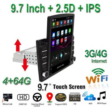 Universal Car Multimedia Player 9.7 inch 1Din Android 9.1 Radio Stereo GPS BT Wifi/3G/4G Video Audio player 10 25 android car multimedia player for bmw x6 f16 2014 2017 nbt navigation navi gps bt support 4g 3g wifi radio stereo