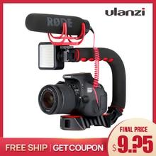 Ulanzi u グリッププロトリプル靴マウントビデオビライザーハンドグリップカメラ電話ビデオリグニコンキヤノンiphone × 8 7
