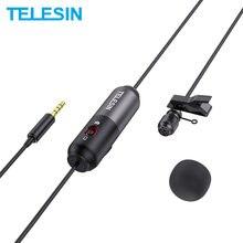 TELESIN-micrfono porttil para cmara Canon iPhone IOS DSLR 5,5 m Clip-Clip de 3,5mm cuello condensador... solapa