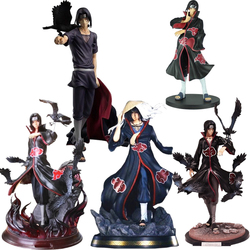 33cm Naruto Figure Action Model 1/7 Scale GK Shippuden Uchiha Itachi Version Statue Hand-Made PVC Figure Boy Toys Gift