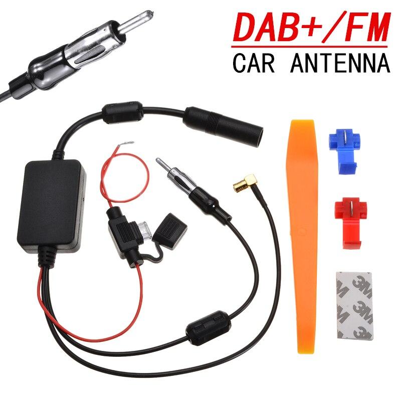 DAB + Автомобильная стерео антенна разделитель кабеля адаптер Усилитель радиосигнала антенна усилитель сигнала Комплект FM/AM